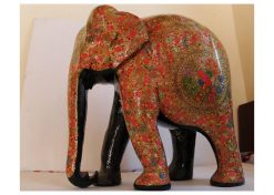 wooden handpainted elephant
