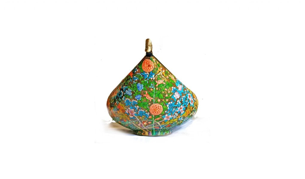 papier mache,Mughal brass bowl, Real gold art of Kashmir,