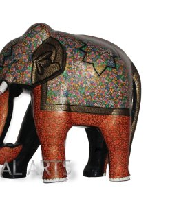 Elephant floral decor,Elephant statue,Papier mache of kashmir, Mughal Arts