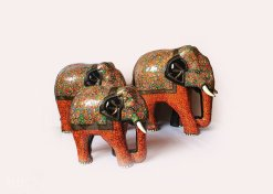 Painted elephant, elephant statue for sale, paper mache,