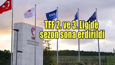 Photo of TFF 2. ve 3. Lig'de sezon sona erdirildi