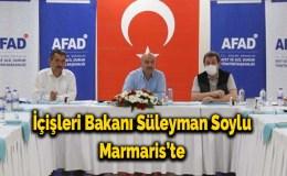 İçişleri Bakanı Süleyman Soylu Marmaris'te
