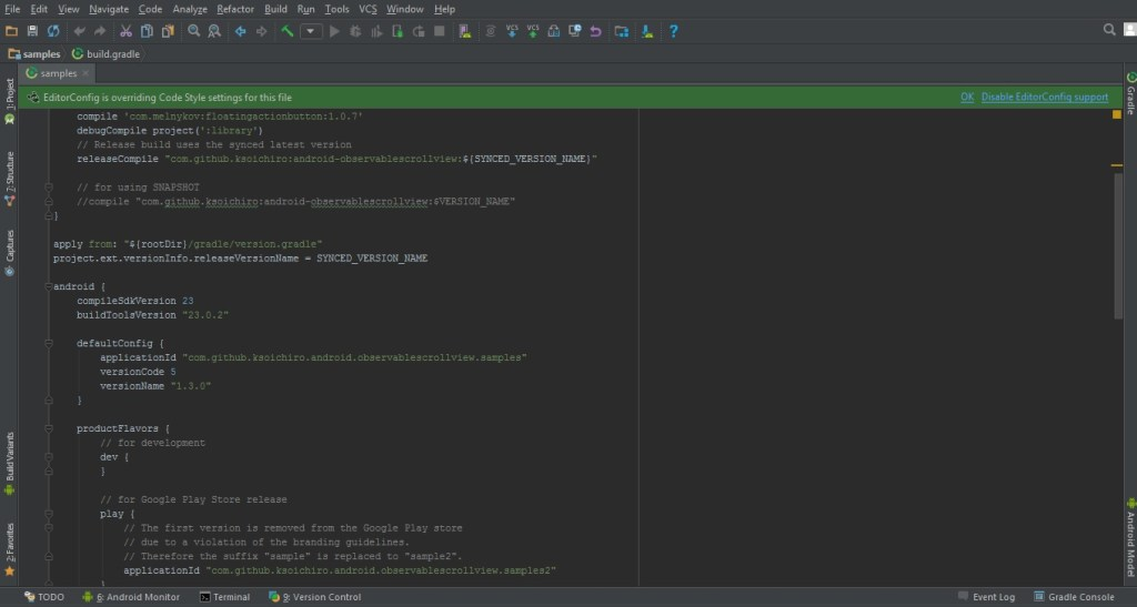 android studio dark darcula theme