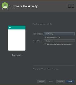 customize activity android studio