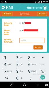 masukkan batas limit pemakaian vcn di aplikasi mobile banking bni