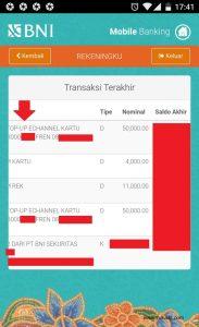beli pulsa lewat mobile banking 8 bukti transaksi