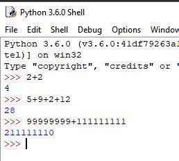 python hesap makinesi olarak kullanımı