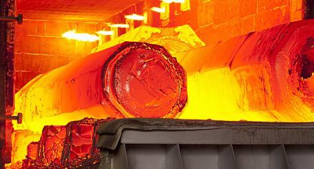 ısıl işlem fırındaki çelikler