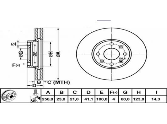 fren diski teknik resmi