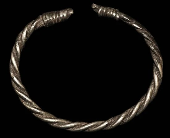 Rare Viking Silver 'Twisted' Torc Bracelet