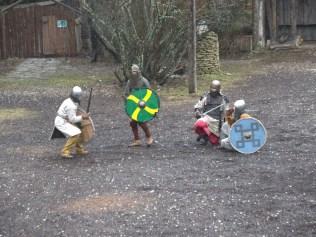 Viikingiteküla, mõõgavõitlus, taaskehastajad