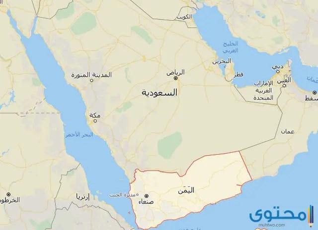 خريطة اليمن بالمدن كاملة صماء موقع محتوى
