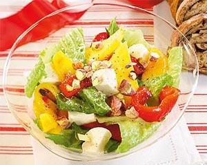 salada com manga