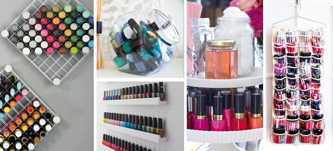 10 ideas geniales para organizar tus esmaltes de uñas