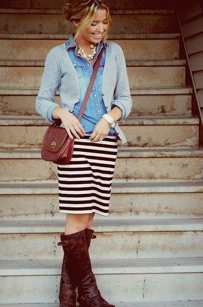 mezclilla-falda