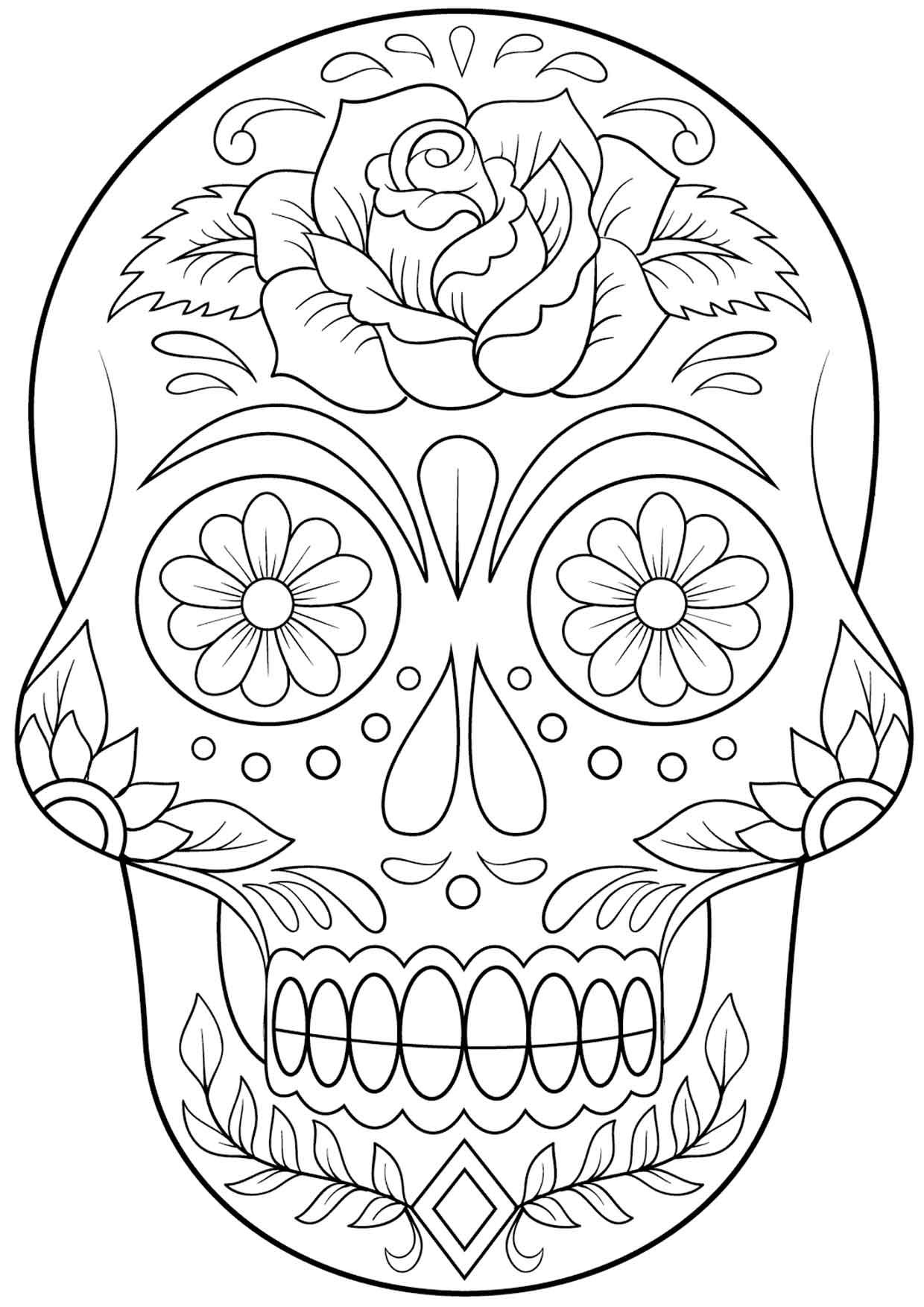 20 Padrisimos Mandalas De Dia De Muertos Para Imprimir Y Colorear