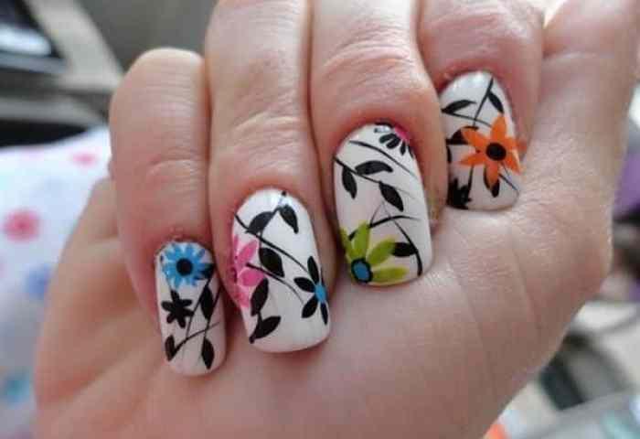 75 Diseños De Uñas Decoración De Uñas Decoradas Con Flores Fáciles