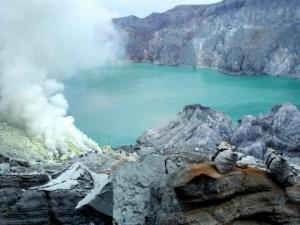 Foto de Claudia Rodríguez. Volcán Kawah Ijen, Indonesia.