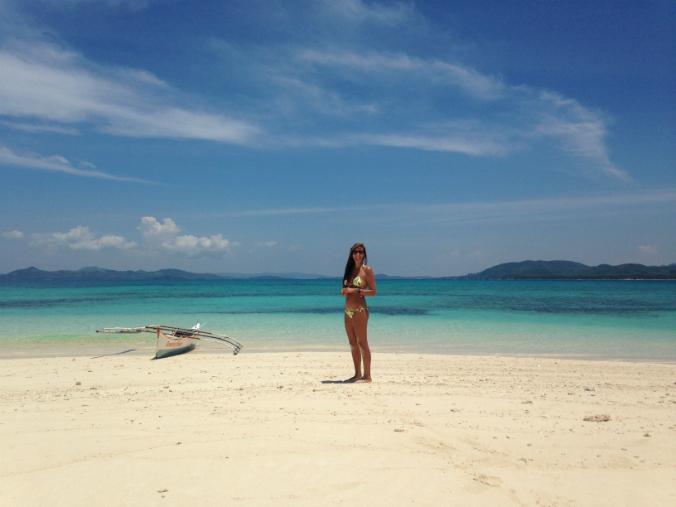 Claudia en Siargao, Filipinas.