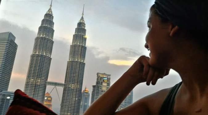 Mirando a las Petronas desde las alturas