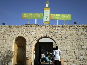 Entrada a la cooperativa Assouss Argane