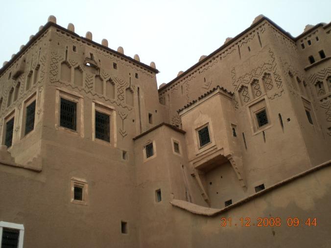 Detalle de la kasbah de Taourirt