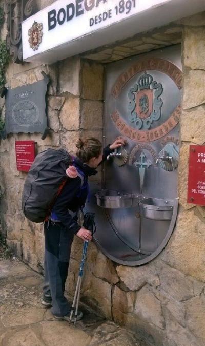 Fuente que emana vino en Estella (Navarra)