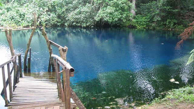Panoramica del Agujero Azul en Espiritu Santo en Vanuatu
