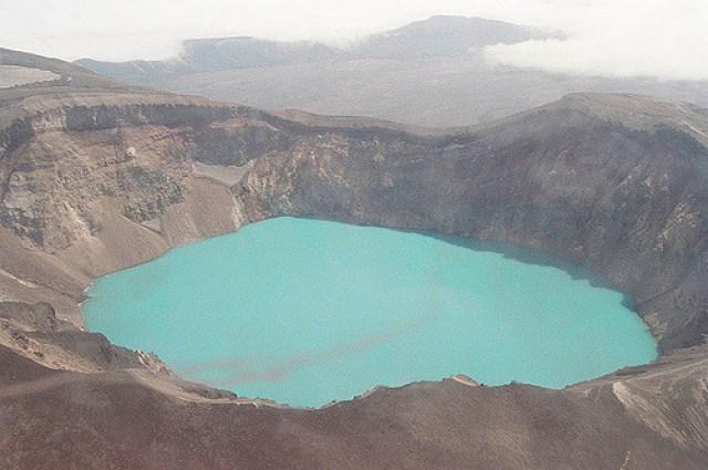 Vista desde arriba del lago Crater