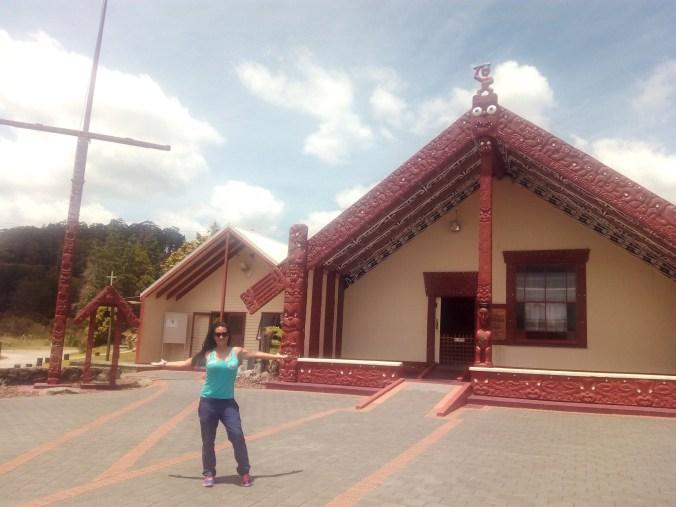 Típicas construcciones Maoríes