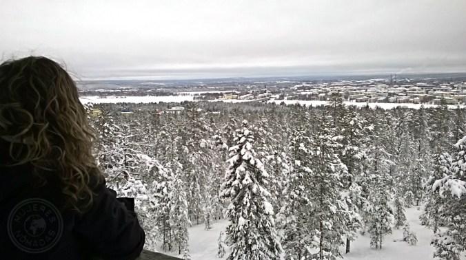 Vista de Rovaniemi desde el mirador.