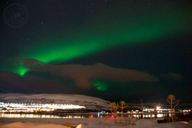 Auroras boreales. Un auténtico baile de colores. Foto: Simon Schönenberger.