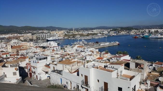Vistas de Ibiza desde uno de los miradores de Dalt Vila