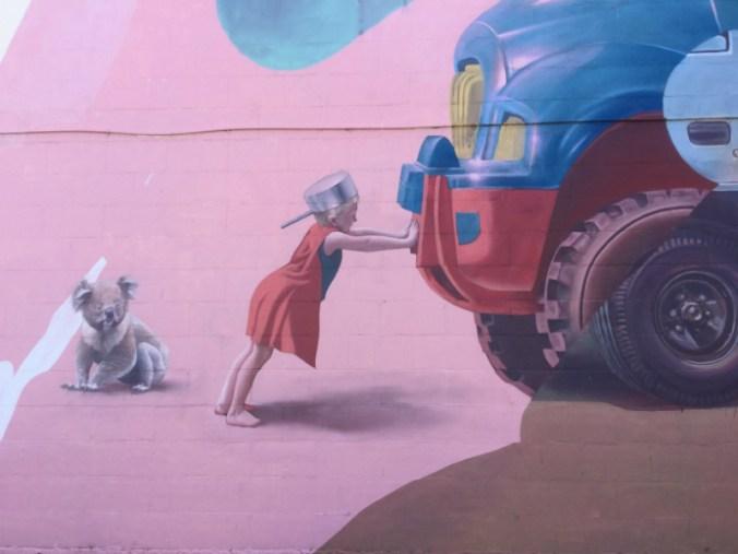 Graffiti en Port Adelaide.