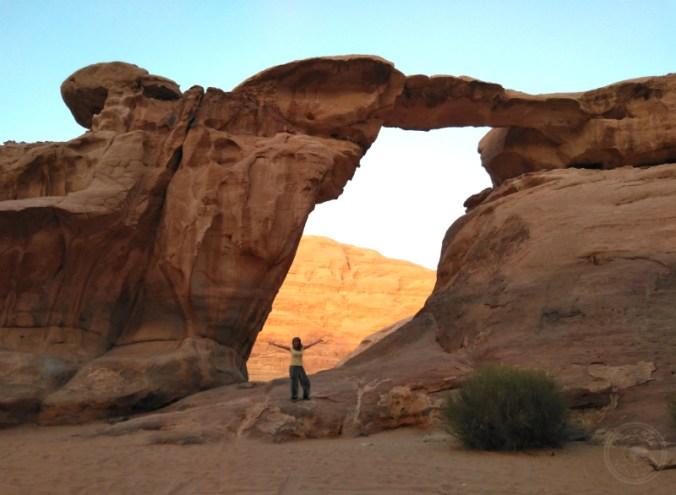 Disfrutando de la ruta en Wadi Rum.