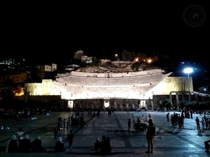 El anfiteatro de noche. Amán.