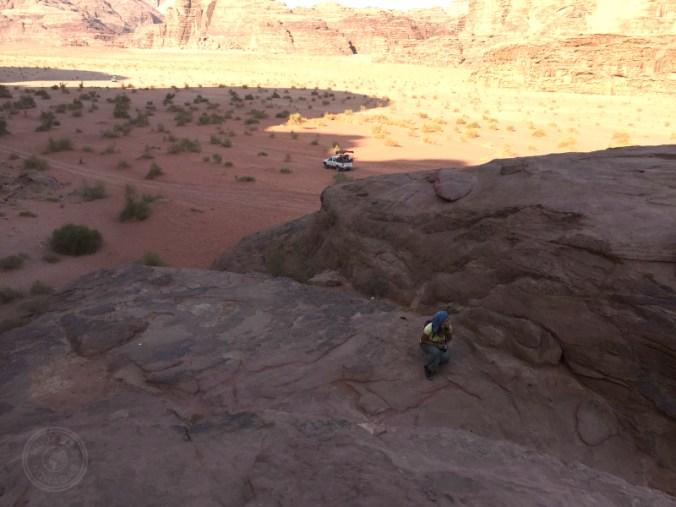 Tranquilidad en Wadi Rum. Agosto es temporada baja.