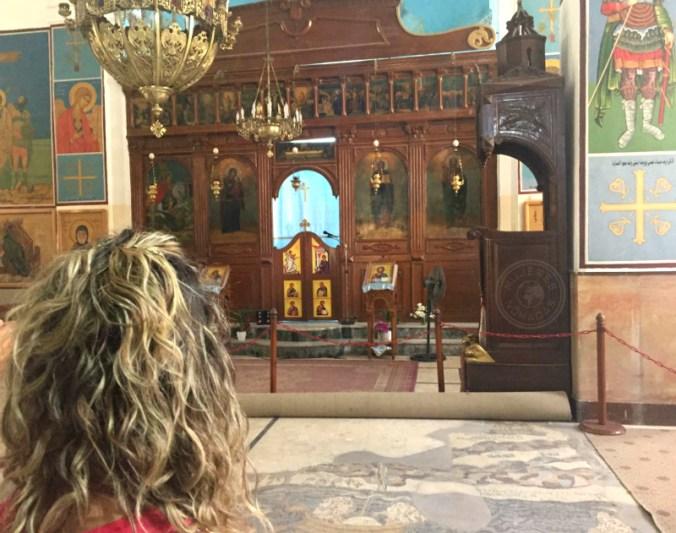 Uno de los mosaicos en la Iglesia Ortodoxa de San Jorge.