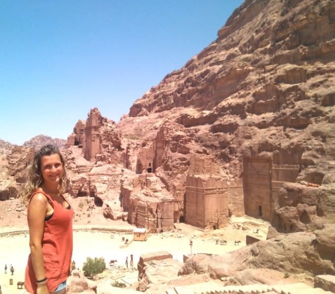 Vistas de Petra desde otro ángulo del Sacrificio.
