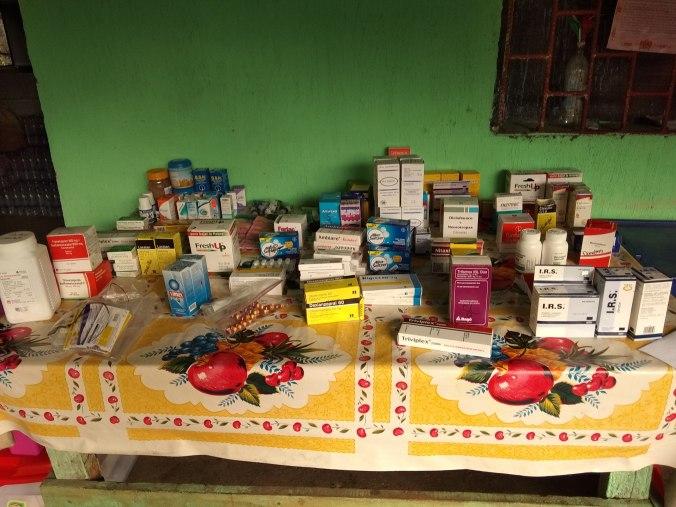 Medicamentos que se usan en las jornadas médicas.