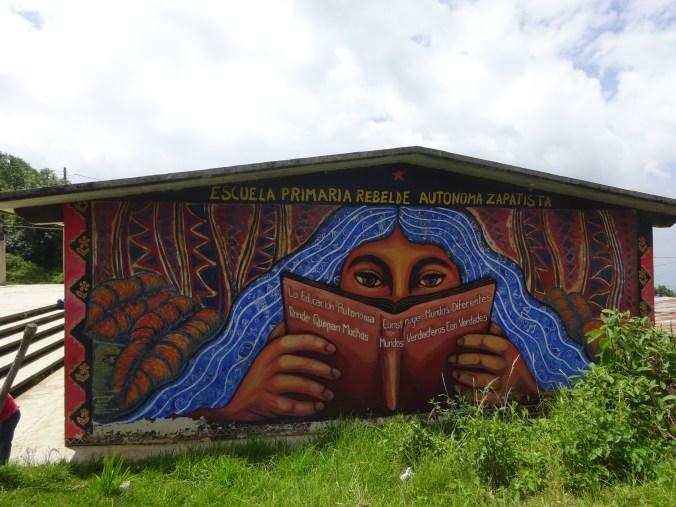 Escuela zapatista en Oventic.