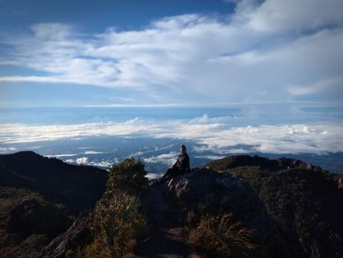 Panamá. Disfrutando en la cima. Volcán Barú.
