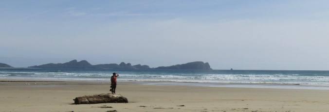 La playa. El mar.