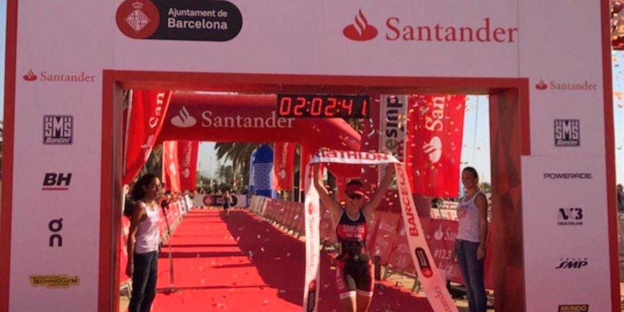 Marta Sánchez, vencedora del Barcelona Triathlon, nos explica cómo vivió la prueba