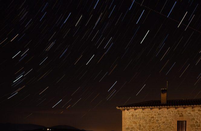 Estrellas vistas con live composite de Olympus
