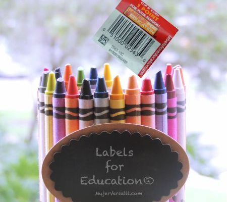 #1Millon4Edu, Labels for Education®