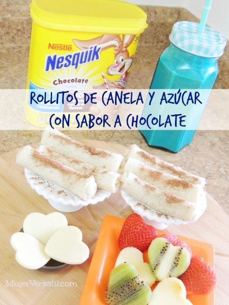 Rollitos de Canela y Azúcar con Sabor a Chocolate