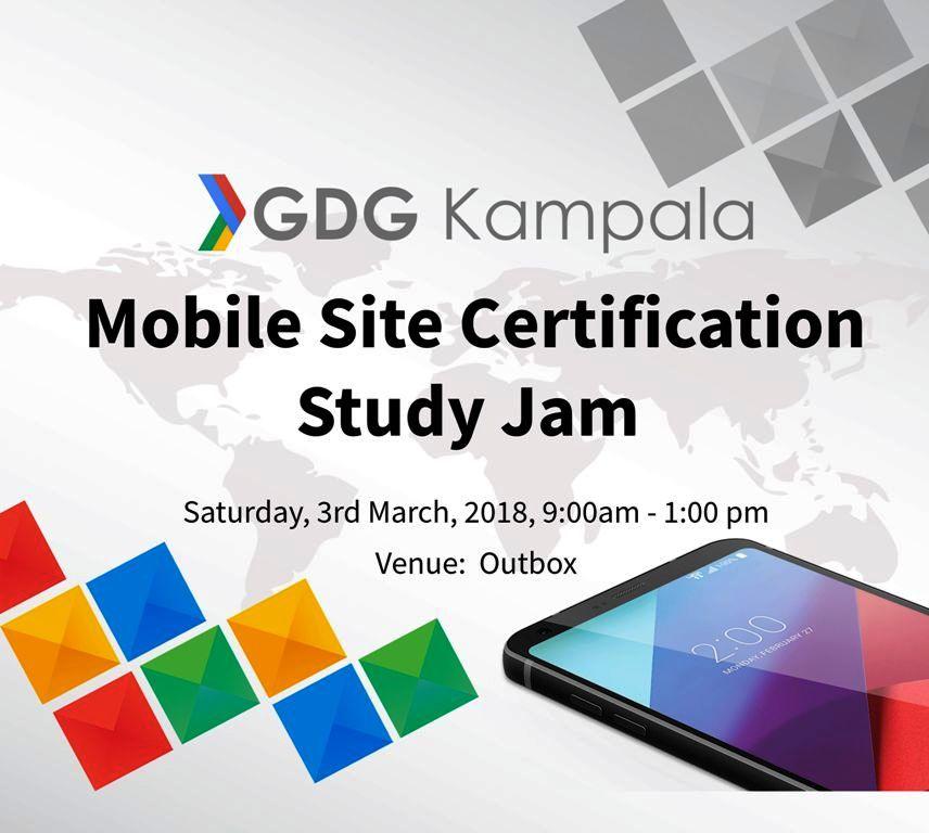 Mobile Site Certification Study Jam Kampala Mukalele Rogers