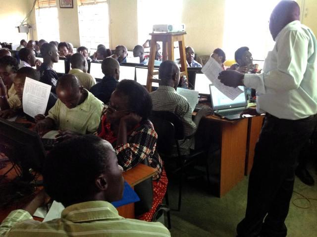ICT Teachers at a previous retooling workshop