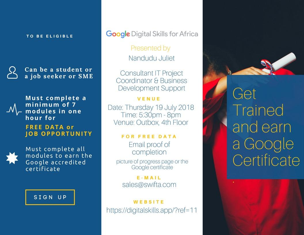 Google Digital Skill Certification Mukalele Rogers